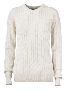 Blakely Knitted Sweater Hvid Dame