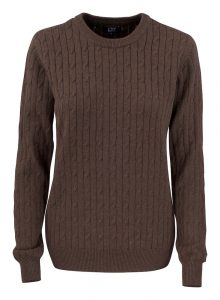 Blakely Knitted Sweater Brun Dame